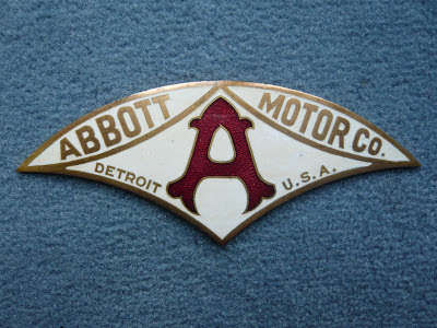 ABBOTT Motor Detroit radiator badge emblem vintage