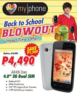 Myphone A848i Duo specs and price