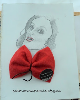 drawing and hair bow