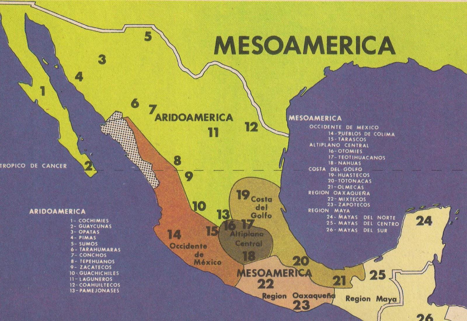 caracteristica geograficas y culturales de aridoamerica: