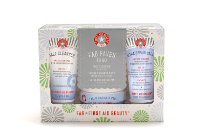 First Aid Beauty FAB Faves To Go Kit, First Aid Beauty Ultra Repair Cream, First Aid Beauty Face Cleanser, First Aid Beauty Radiance Pads, skin, skincare, skin care, First Aid Beauty skincare, First Aid Beauty skin care
