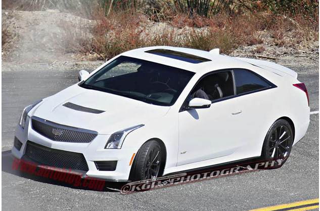 Uncovered 2016 Cadillac ATS-V Coupe Caught in Action