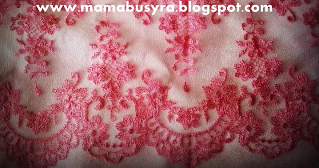 Lace Border : Baby Pink (single layer)