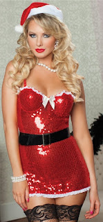 4 piece Sequin Santa Dress