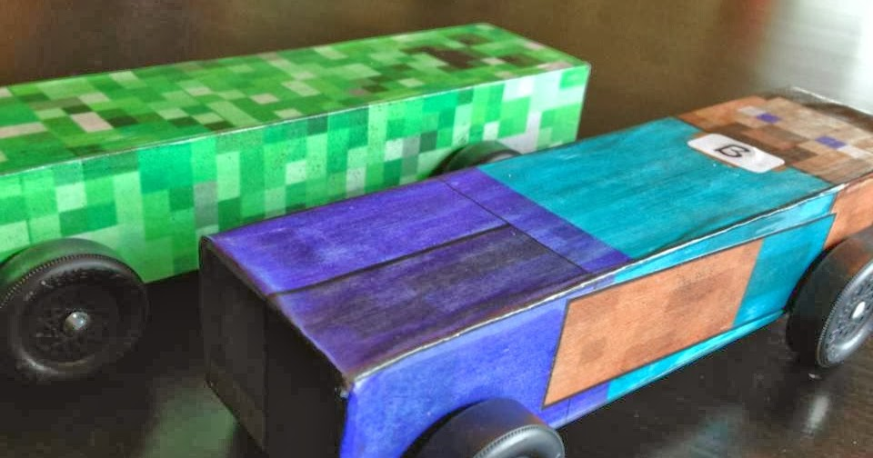 poor md  minecraft pinewood derby car with template