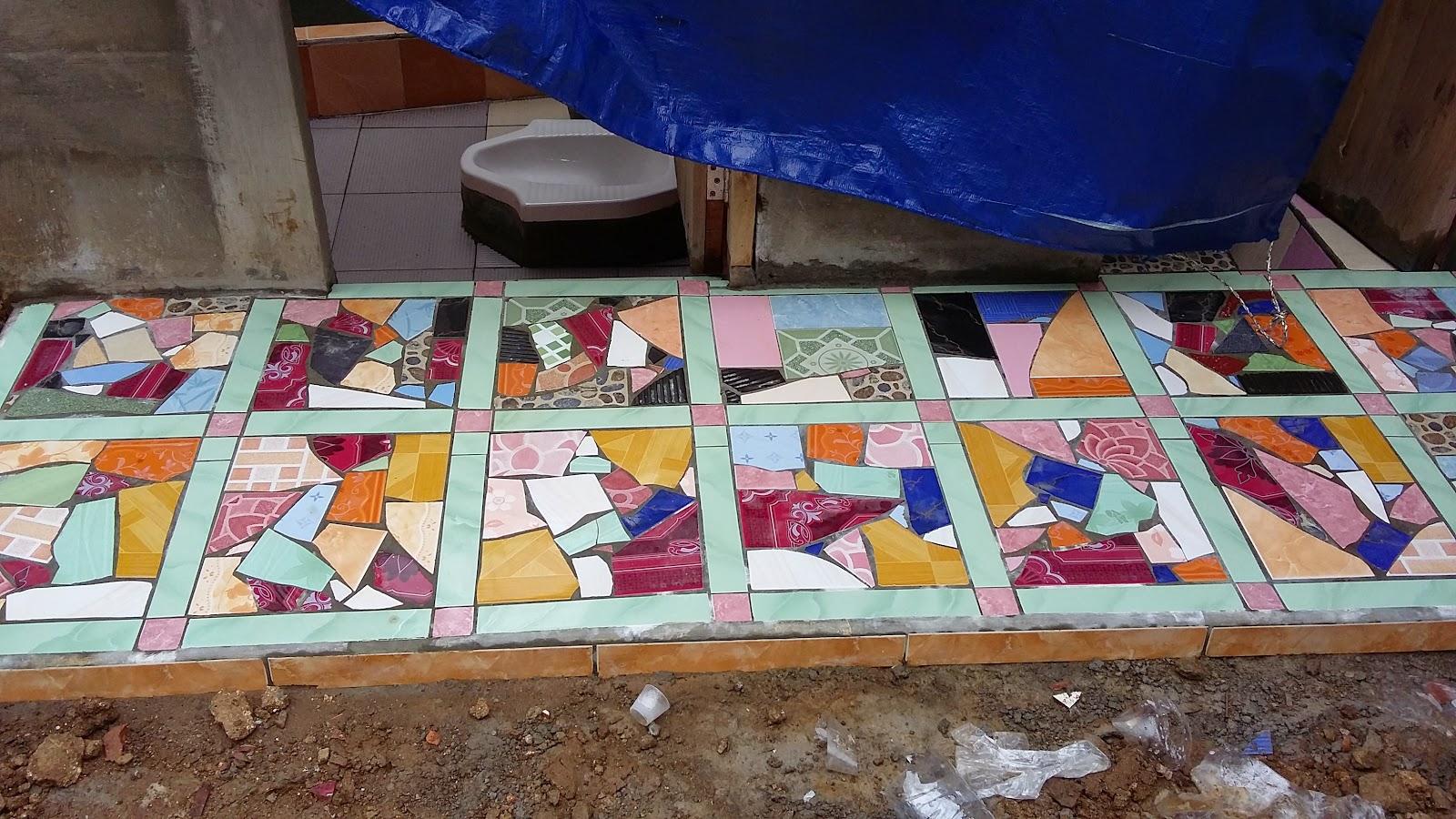 mozaik drdari limbah keramik