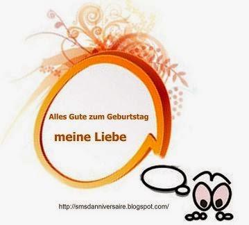 sms d'anniversaire en allemand