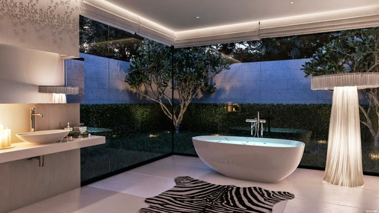 interior led lights minimalist bathroom with modern led lights