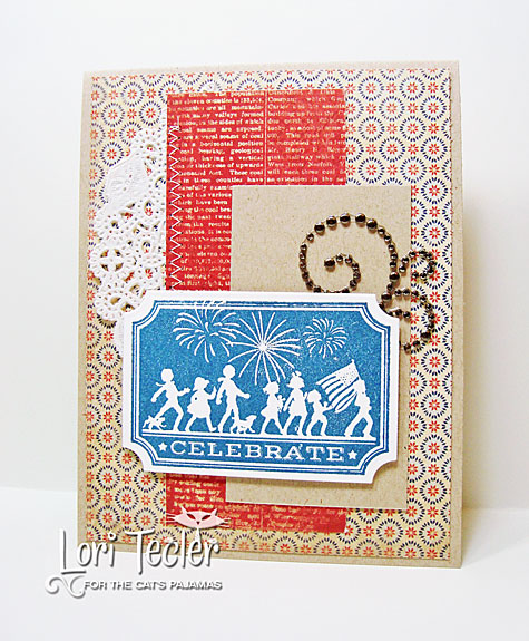 Celebrate card-designed by Lori Tecler/Inking Aloud-stamps and dies from The Cat's Pajamas