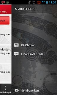 sembunyikan pesan status bbm