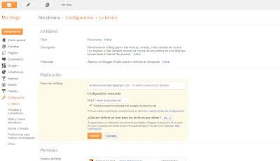 Como redireccionar un Blog de Blogger a .com con Dominiosplus paso 5
