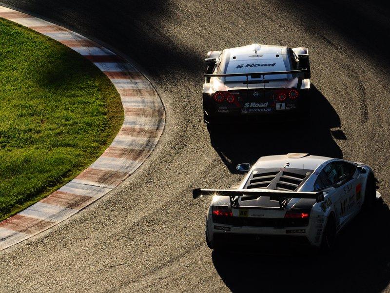 Super GT, japońska liga wyścigowa, seria, JDM, japanese, racing, Autobacs, Nissan, Lamborghini