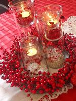 Украса Свети Валентин със свещи