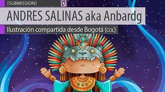 Ilustración. Diosa del agua de ANDRES SALINAS aka Anbardg