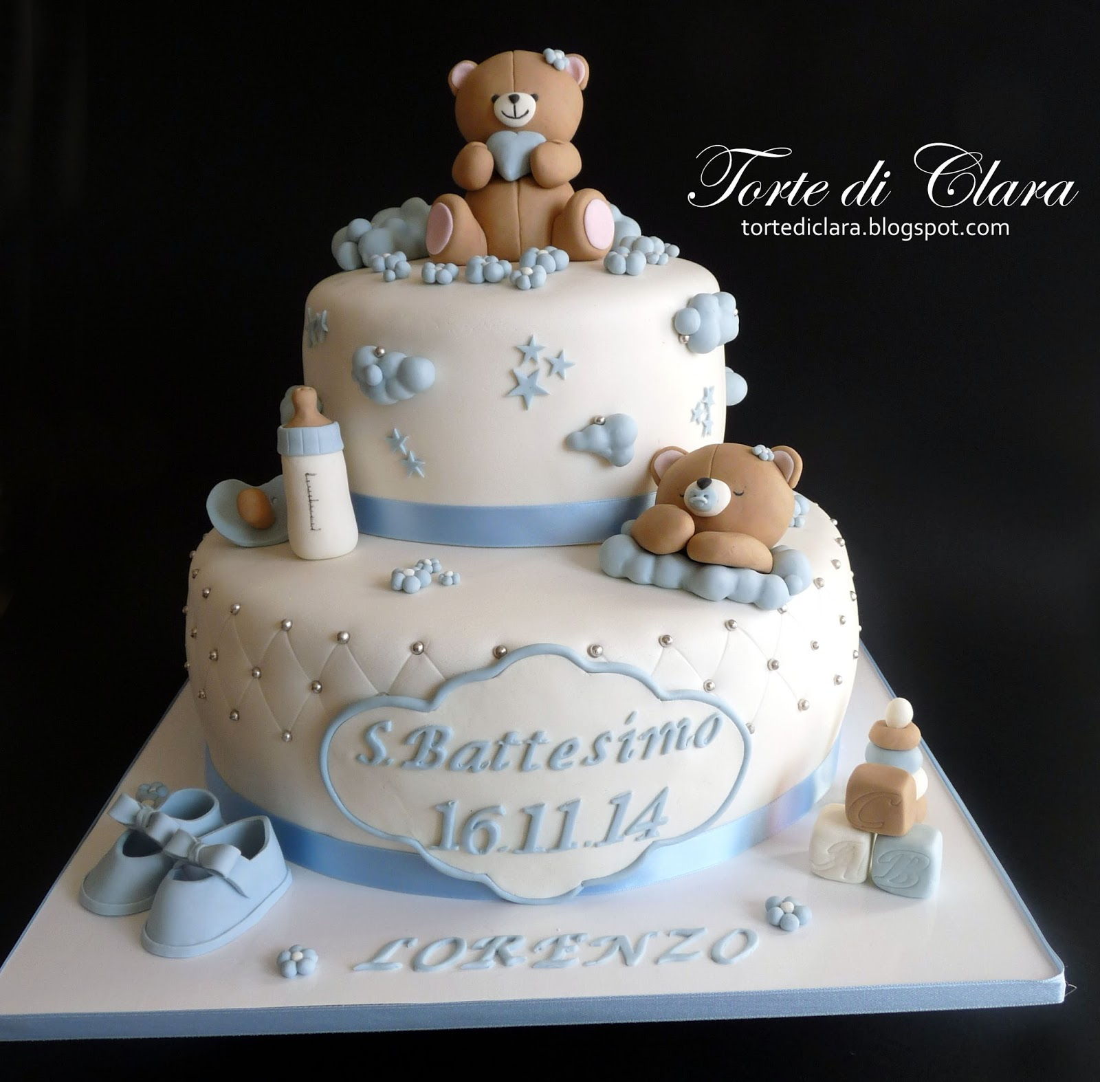 Estremamente Torte di Clara: Torta Battesimo (7) JK39