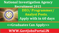 NIA Recruitment 2015