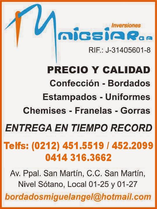 INVERSIONES MIGSIAR, C.A. en Paginas Amarillas tu guia Comercial