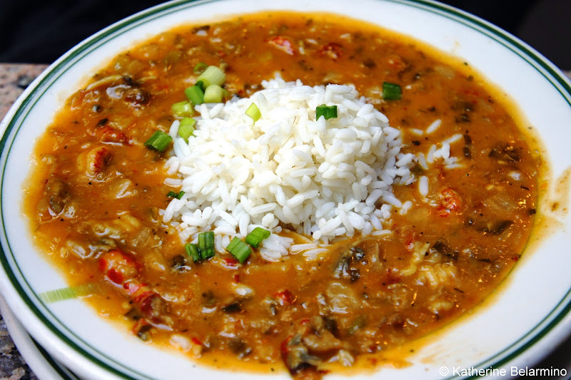 Crawfish Etouffee at the Gumbo Shop New Orleans