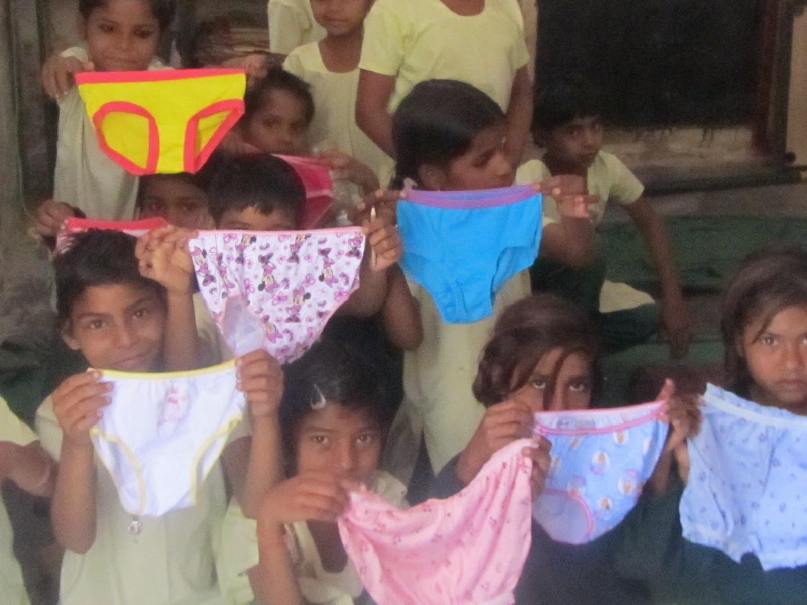 elementary school girls in panties