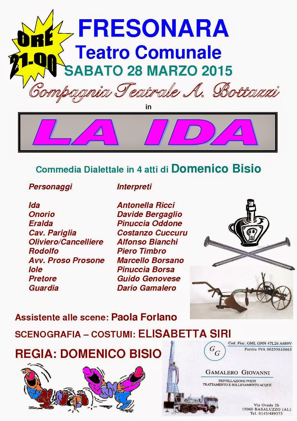 Compagnia teatrale A. Bottazzi: La Ida a Fresonara