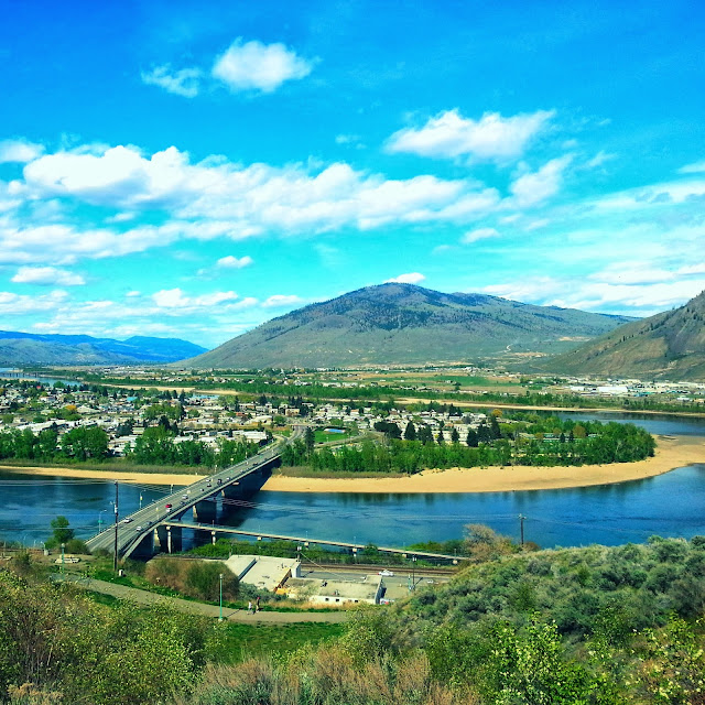 kamloops, bc, Canada, mountains and river
