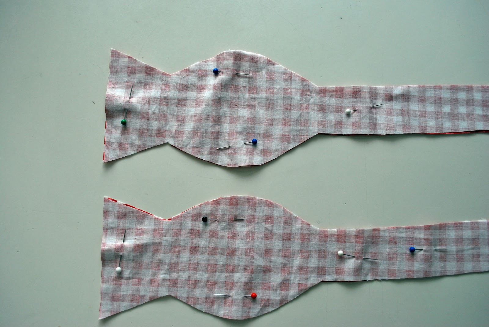 Larissa another day dapper little man bow tie tutorial starting at the neck band part sew with a 14 seam allowance all away around the outside all the way back to the opening at the band part jeuxipadfo Images