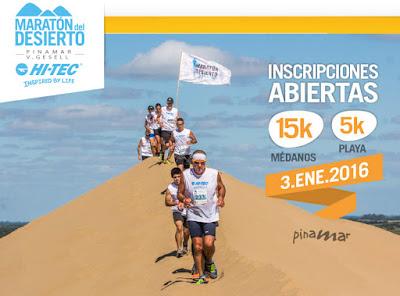 Maratón del desierto - Pinamar (03/ene/2016) y Villa Gesell (13/feb/2016; ARG)