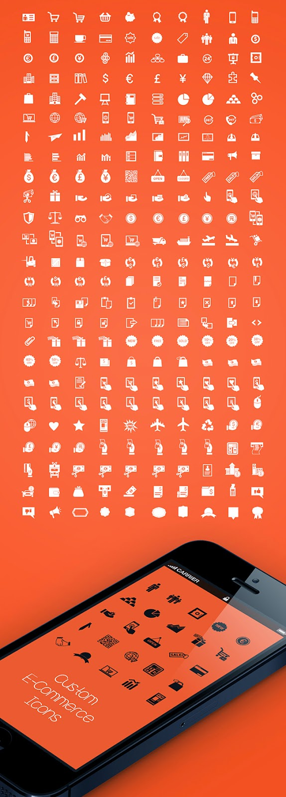 250 Free Ultimate E-commerce Icons Pack