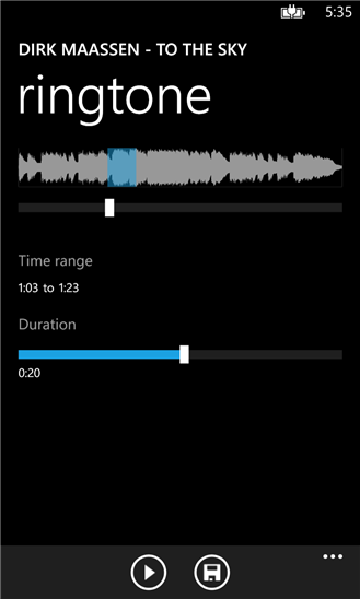 Audiocloud on Nokia Lumia 820