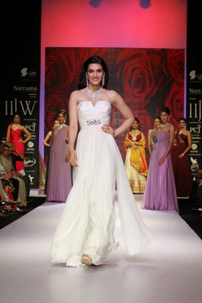 Actress Kriti Sanon In White Gown