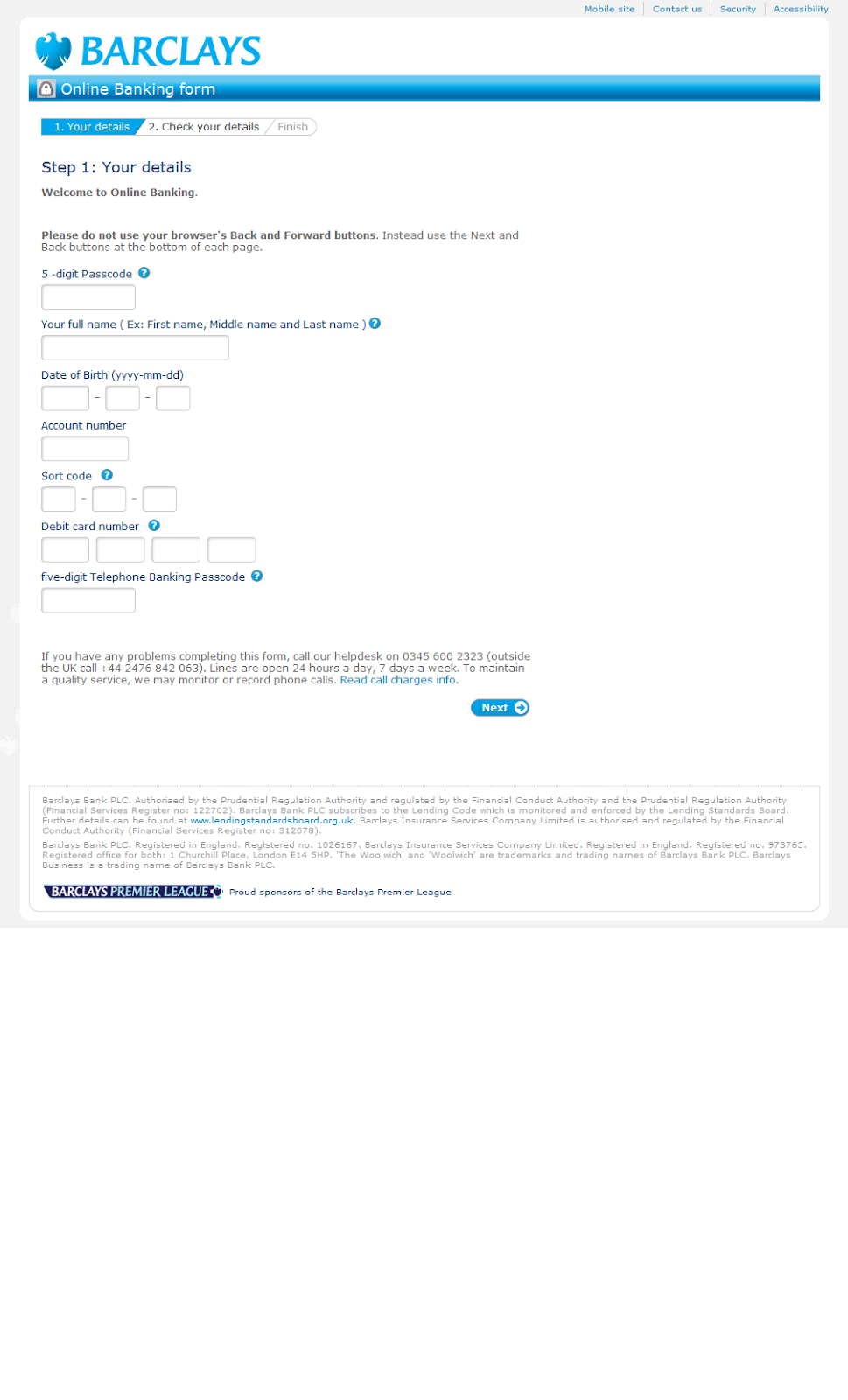 barclays online dating