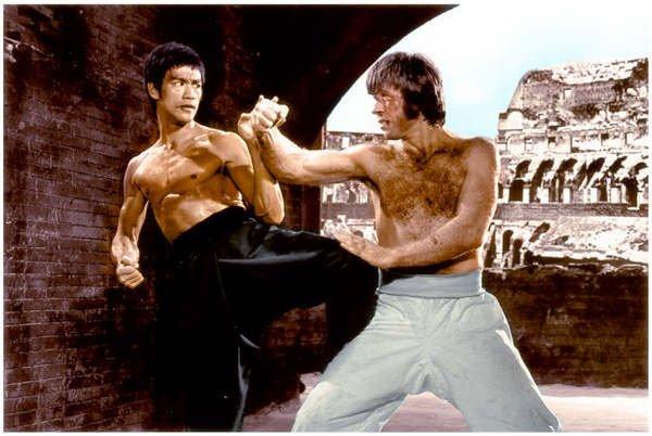 Bruce lee versus chuck norris mangozeen