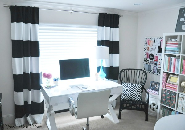Curtains Ideas black and white striped curtains horizontal : Honey We're Home: DIY // Painted Striped Curtains
