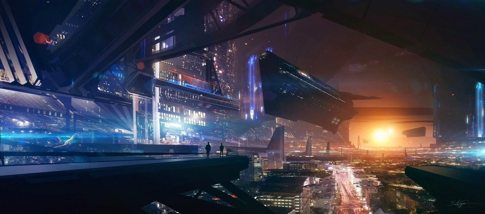 Papel de Parede Ficção Científica Cidade do Futuro para pc hd 3d grátis Sci Fi desktop hd wallpaper image free