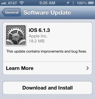 iOS 6.1.3 Update for iPhone, iPad and iPod Touch