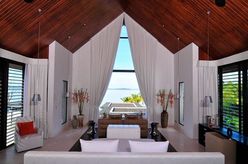 Bedroom view in Contemporary villa in Phuket, Thailand