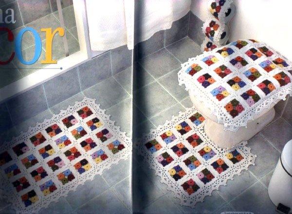Juegos De Baño Tejidos: 69kB, Patrones De Juegos De Bano En Crochet