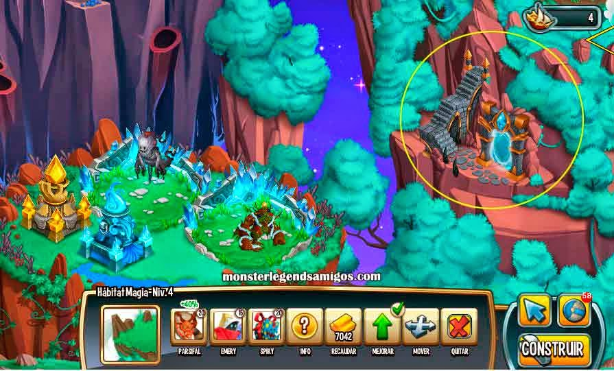 imagen del proximo edificio mazmorra de monster legends de facebook