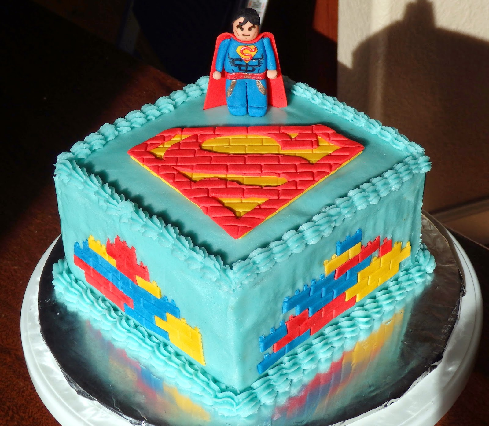 Lego Themed Cake Design : Cakes By D: Superman Lego Birthday Cake