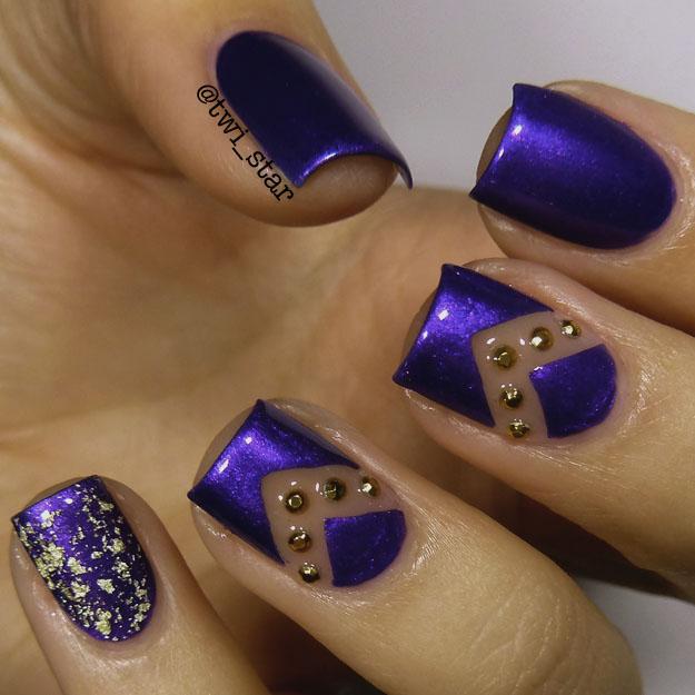 twi-star | Nail Art Blog: Julep Avni and OPI Pure gold topcoat ...