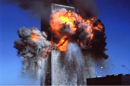 L'esplosione delle Torri Gemelle. Foto dalla rete