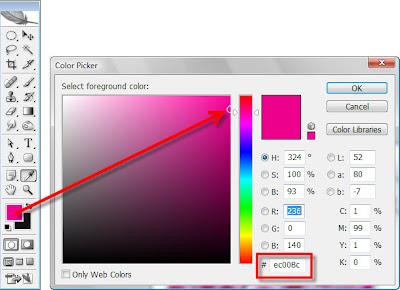 Как узнать HTML код цвета в Photoshop