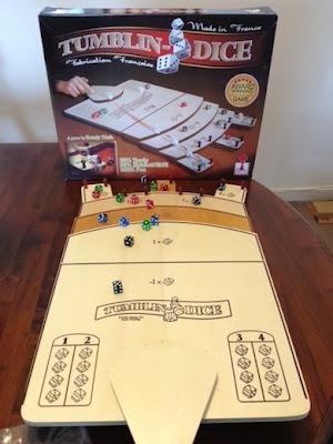 Tumblin Dice board game in play