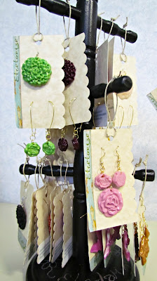 Etcetorize, DIY Jewellery, Fimo, Polymer Clay, Easy Craft, Handmade Jewellery, Flower Necklace, Handmade Buttons, Cabochons, Butterfly Earrings