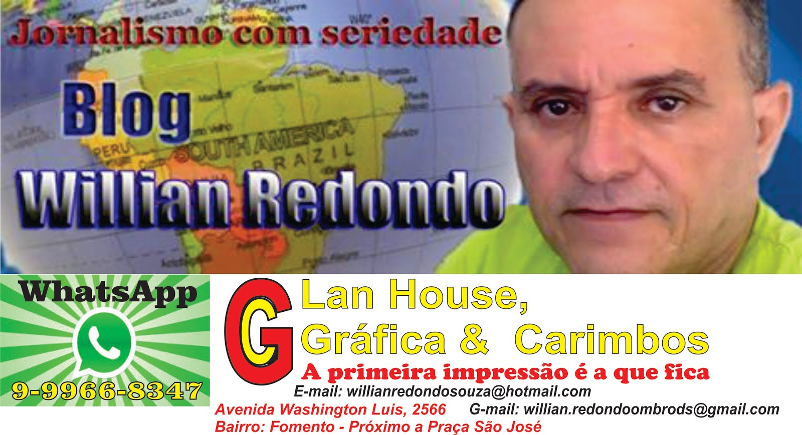 Blog Willian Redondo - WhatsApp - (98) 9966-8347