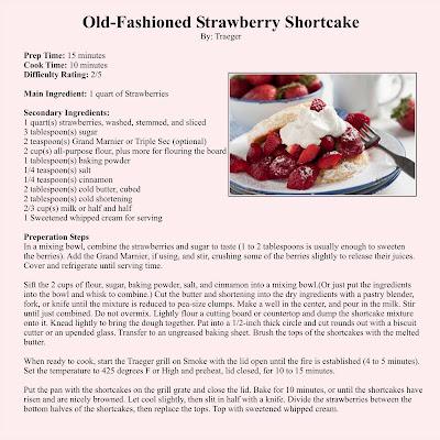 Traeger Grills: Old Fashioned Strawberry Shortcake