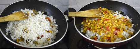 capsicum corn rice