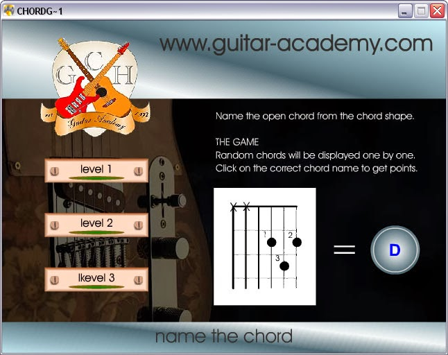Guitar Chord Game v2.00
