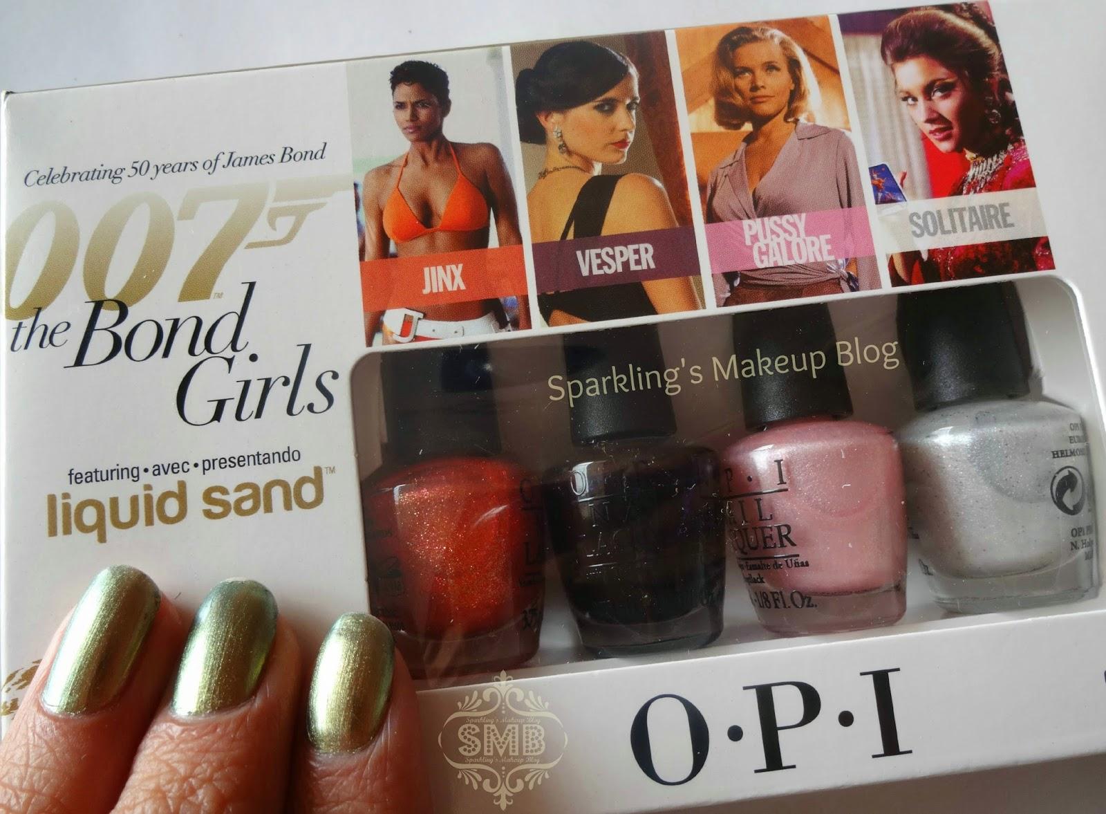 O.P.I 007 the Bond Girls Liquid Sand mini collection~ Review ...