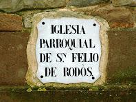 Placa de ceràmica de la rectoria de Sant Feliu de Rodors